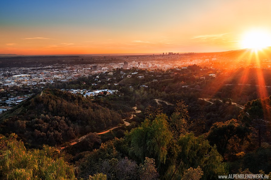 Sunset Los Angeles alpenblendwerk
