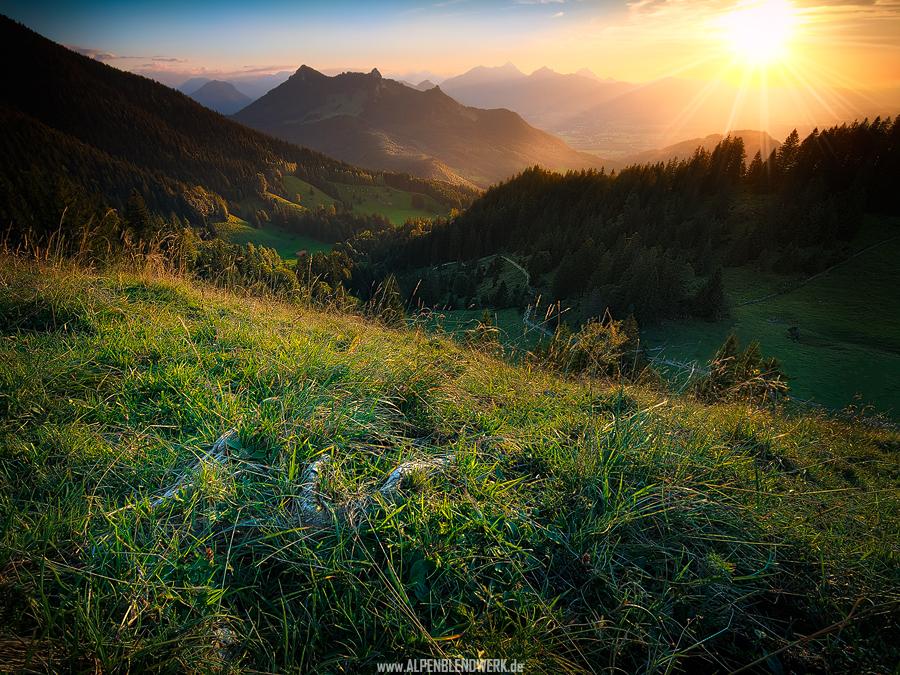 Der Heuberg bei Sonnenuntergang