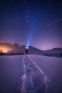 Nacht Sterne Samerberg