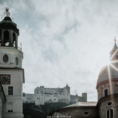 Salzburg Altstadt Burg und Kirchen
