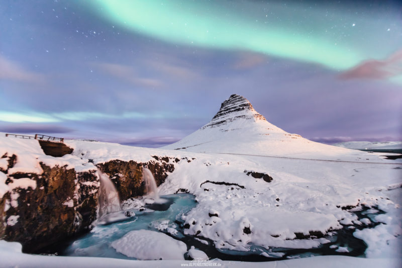 Iceland Kirkjufell Aurora